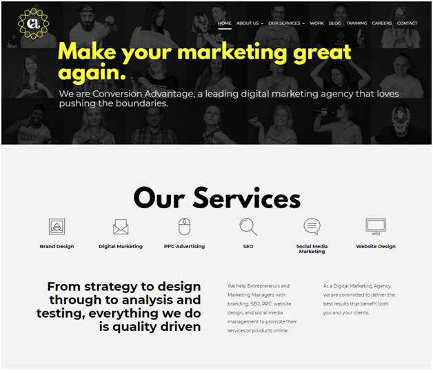 digital branding website