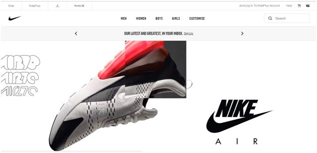 Nike digital branding